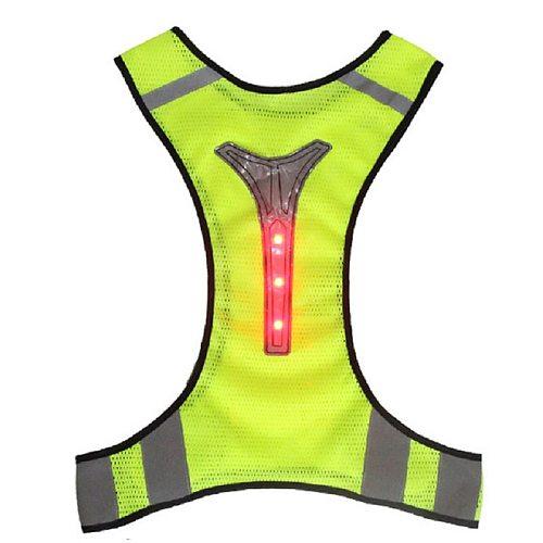 Reflective Vest Motorcycle Jacket LED light Safety High Visibility Chaleco Reflectante Moto Riding Chaleco Motorsiklet Yelek