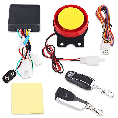 12V Motorcycle Alarm Moto Anti-theft Security Alarm System Scooter 125db Remote Control Engine Start Keyless Entry Anti-line Cut