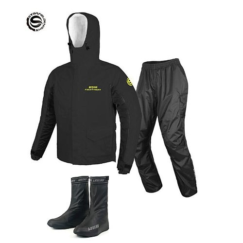Adult Cycling Men Raincoat Rain Pants Waterproof Motorcycle Raincoat PVC Imperneable Yagmurluk Erkek Rain Gear Rider chubasquero
