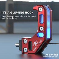 Spirit Beast L7 Universal Motorcycle Hook With Light Modification Accessories Helmet Hook Aluminum Alloy CNC Hook Decoration