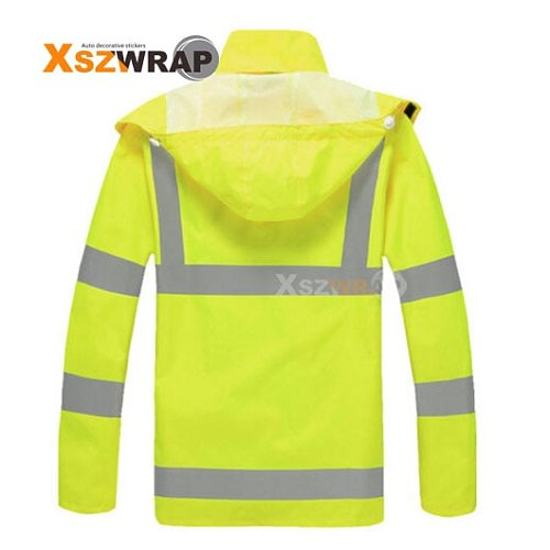 Fluorescent Yellow Raincoat Suit Breathable Traffic Reflective Clothing Adult Riding Security Patrol Station Guard Raincoat