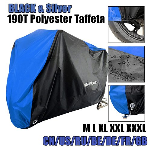 Motorcycle Cover All Season Waterproof Dustproof UV Protective Outdoor Indoor Lock-holes Design Motorbike Rain Covers Coat D45