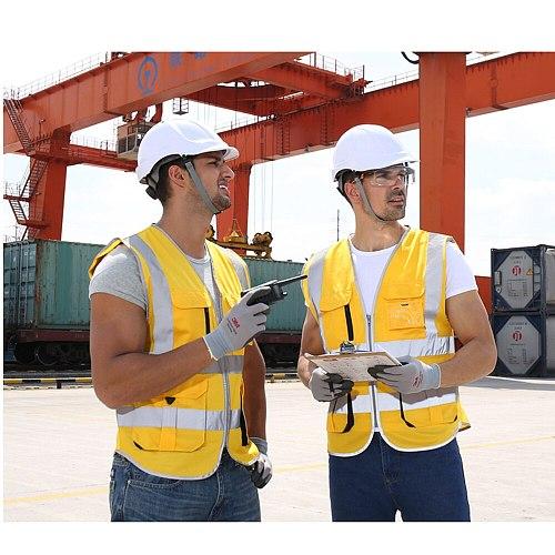 Motor Vest Men Woman High Visibility Safety Vest Work Vest Workwear Safety Red Reflective Vest Construction Vest with logo