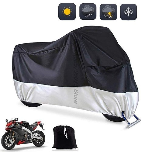 Motorcycle cover M L XL 2XL 3XL 4XL Outdoor UV waterproof Bike for Majesty 400 Vf50 Yamaha Stratoliner Neverland Tent