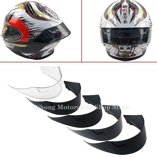 Carbon Motorcycle Rear Trim Helmet Spoiler Case For SHOEI Z7 Z-7 NEW Z8 Accessories
