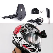 Universal Motorcycle Helmet Wiper Lightweight Durable Electric wiper Compatible with most visor