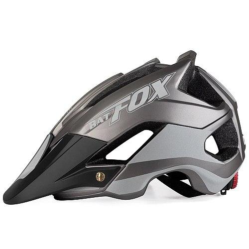 BATFOX Overall Molding Men Women Bicycle Helmet Ultra-light MTB Helmet Night Reflective Design Cycling Helmet Casco Ciclismo
