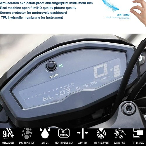 Motorcycle Cluster Scratch Protection Film Screen Protector For YAMAHA MT-15 MT15 m-slaz150 2015-2018