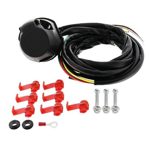 7 Core 2M Trailer Cable Kit Trailer Socket Set 13 Pin Electrical Kit E-Kit Harness Traction Hook Car Accessories