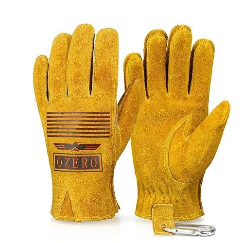 OZERO Motorcycle Gloves Leather Motocross Motorbike MTB Road Bicycle Riding Motor Gloves Men Women Summer Guantes Moto A2010