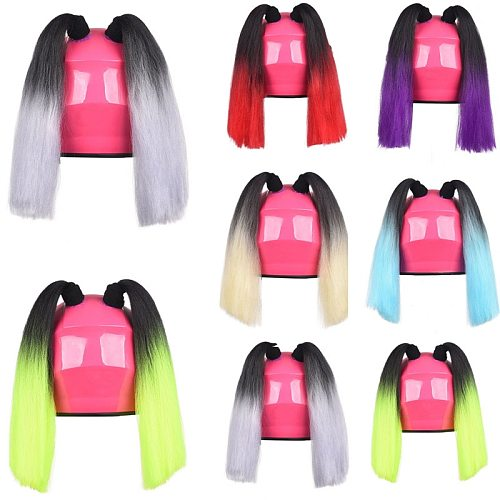 2Pcs/Set Car Motorcycle Helmet Dirty Braid Ponytail Motocross Full Face Off Road Helmet Deco Silicone Sucker Punk Style Styling