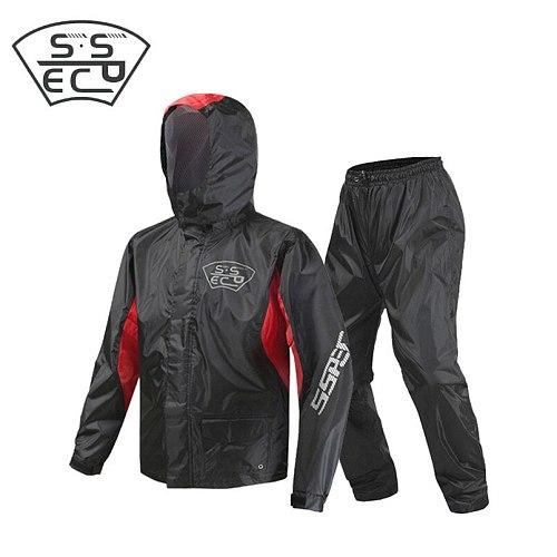 2018 100% Polyester Motorcycle Rider Raincoat Motocross Racing Rain Suit with LED Women/Men Jacket Pants Set Adult Rain Poncho