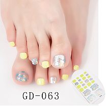 22 Tips/Sheet Nail Sticker Set Nail Accesoires Designed Nail Art Stickers 2020 Full Beauty Nails Art Decoration Nail Sticker lot