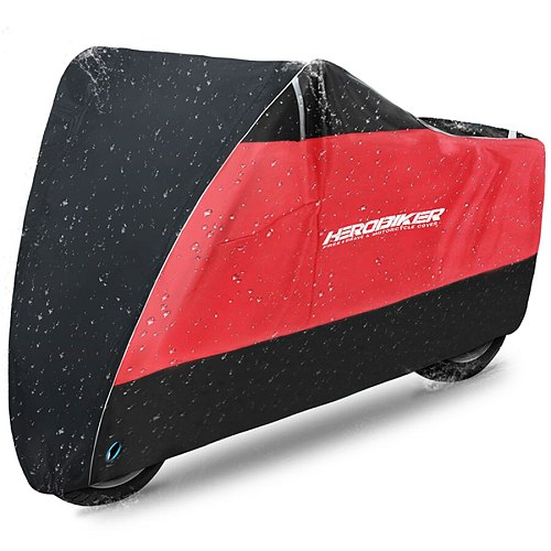 HEROBIKER Waterproof Biker Cover Motorcycle Cover Motorbike Moto Scooter Cover UV Protector Dustproof Motorcycle Raincoat