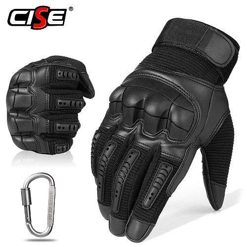 Touchscreen Leather Motorcycle Gloves Motocross Tactical Moto Motorbike Pit Biker Protective Gear Racing Full Finger Glove Men