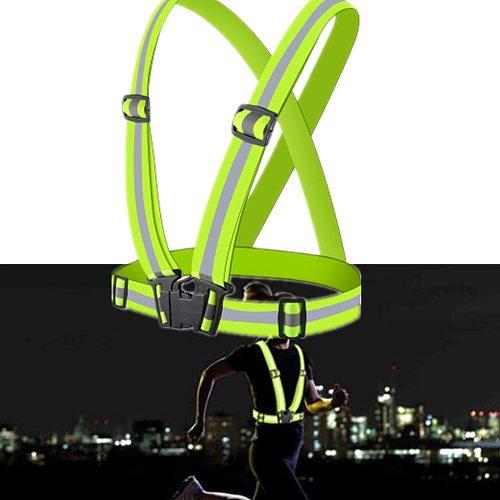 Reflective Vest Motorcycle Strap Elastic Webbing Night Running Riding Reflective Clothes Sanitation Vest