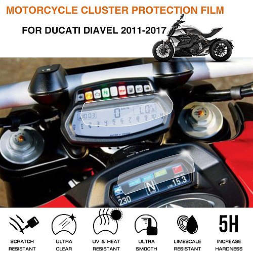 Motorcycle Cluster Scratch Protection Film Screen Protector For ducati diavel 2011-2017