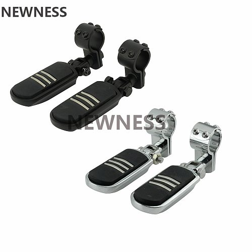 1-1/4  32MM Motorcycle Engine Guard Highway Footrest Foot Pegs Mount Clamps For Harley Cafe Racer Honda Kawasaki Suzuki