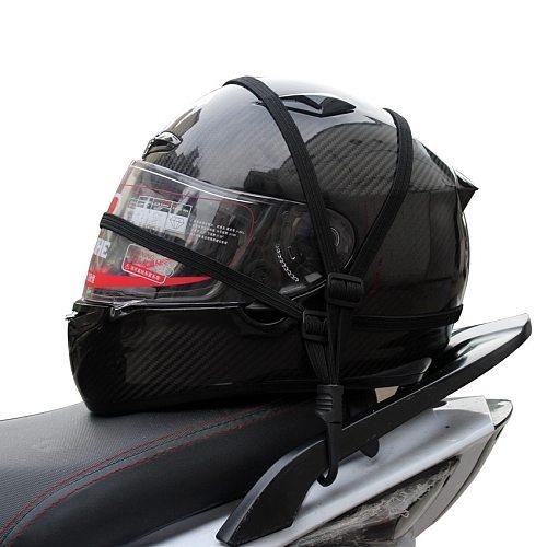 Universal Motorcycle Luggage Net Rope Moto Helmet Net Holder Luggage Rope Elastic Cargo Net Hooks Bandage Motorcycle Accessories