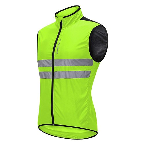 WOSAWE Motorcycle Reflective Vest High Visibility Motocross Riding Off-Road Bicycle Vest Windbreaker Running Sports Jacket