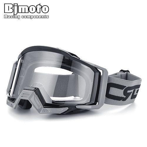 BJMOTO Brand Motocross Goggles Glasses Skiing Sport Eye Ware MX Off Road Helmets Gafas Motorcycle Goggle for ATV DH MTB