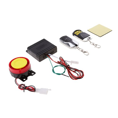 Scooter Car Security Alarm System Remote Control Set Anti-theft Universal