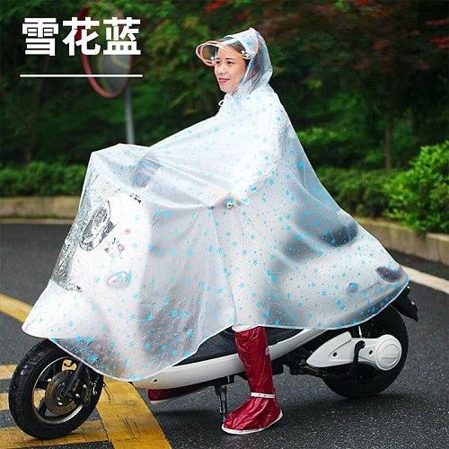 Waterproof Portable Black Overall Bike Scooter Raincoat Jacket Outdoors Raincoat Vinyl Survival Regenjacke Rider Rainsuit JJ16