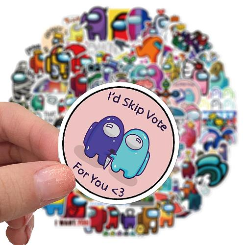 100Pcs Game Among US Cartoon Stickers For Laotop Phone Skateboard Fridge Guitar Motorcycle Car Travel Luggage Sticker Decals