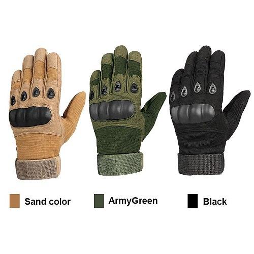OZERO Men's Outdoor Recreation Gloves Gants Military Tactical Gloves 9023 Full Finger Breathable Motocross Motorcycle Gloves