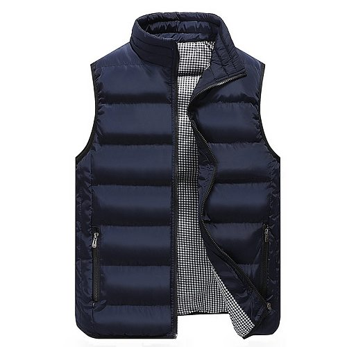 Men Clothing Vest Jacket Mens New Autumn Warm Sleeveless Jacket Male Winter Casual Waistcoat Men Vest Plus Size Veste Homme