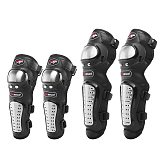 4Pcs/Set Motorcycle Kneepad Stainless Steel Moto Elbow Knee Pads Motocross Racing Protective Gear Protector Guards Kit