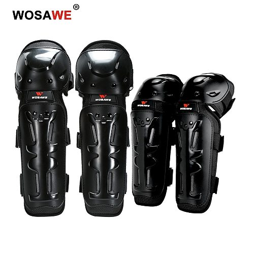 WOSAWE Motorcycle Knee Pads & Elbow Protectors Adult Moto Motocross Off-Road Dirt Bike Brace Safety Protective Gear Knee Guards