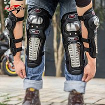 Motorcycle long knee Pad elbow guard motorbike racing Stainless steel riding protective gear Protector Protection armor