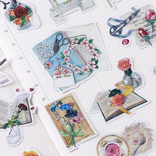 20pcs Cute Retro Still Life Kids Fun Paper Stickers Homemade Bookkeeping Decals on Laptop / Decorative scrapbooking / DIY