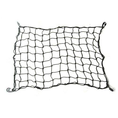 Car Luggage Rack Net Off-road Top Frame Net Pocket Fixed Net Cover Elastic Rubber Durable Net Rope Strap 90x90cm
