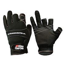 ABU Garcia leather fishing gloves three figner High-quality fabrics Comfort Anti-Slip Outdoor Fishing fingerless gloves 1 Pair
