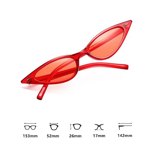 Purple Black Red Sunglasses Cateye Eyewear Women Brand Designer Small Triangle Vintage Sun Glasses Retro Sexy Cat Eye Sunglasses