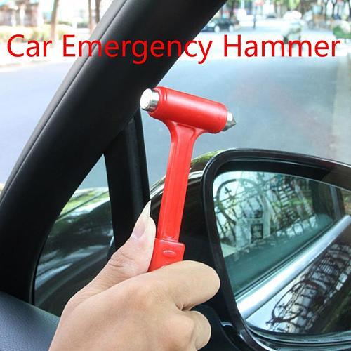 Mini Safety Hammer Emergency Car Hammer Car Breakdown Glass Breaker Seatbelt Cutter Window Escape Blade Tool Valve Seat Tool