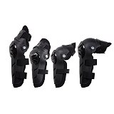 4pcs Motorcycle Riding Protector Motorbike Racing Motocross Off-Road Bike Knee & Elbows Pads Guards Set Protective Gear