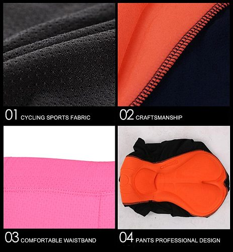 Men Bicycle Bike Cycling Underwear Pants Shorts With Sponge Gel 3D Padded Cycling Equipment Shorts Breathable, Shock Absorption