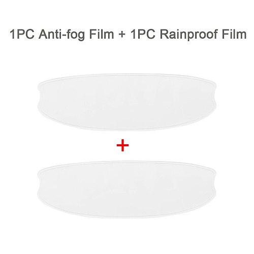 2PCS Motorcycle Helmet Film Motorcycle Anti-Fog+Rainproof Clear Patch Film Waterproof for K3 K4 AX8 HJC HD MT LS2 Helmets Film