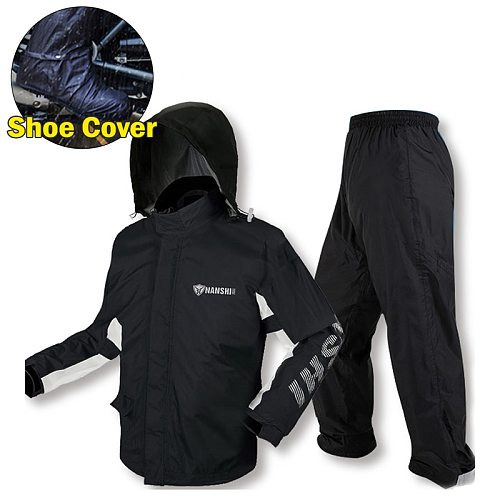 S-2XL Men Raincoat Set Motorcycle Rider Waterproof Rain Suit Jacket and Pants Moto Scooter Accessories Outdoor Camping Hiking