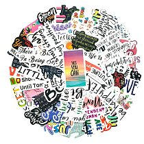 100pcs/Pack English Inspirational Text Stickers Laptop Bicycle Guitar Skateboard Sticker Kid DIY Graffiti Waterproof stikers Toy
