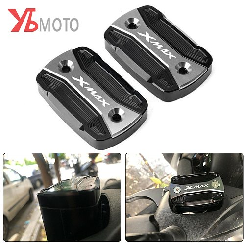 High-Quality Fluid Reservoir Cover For YAMAHA XMAX 300 XMAX300 2017 2018 2019 2020 Motorcycle Accessories  Brake Fluid Tank Cap