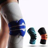 Black Blue Knee Pads for Joints Sports Protection Elasticity Silicone Knee Support Cycling Running Fitness Keep Warm Knee Braces