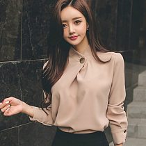Womens Tops And Blouses Long Sleeve Chiffon Blouse Shirt Fashion 2021 Women Blouse Office Shirt Women Tops Blusas Clothes A518