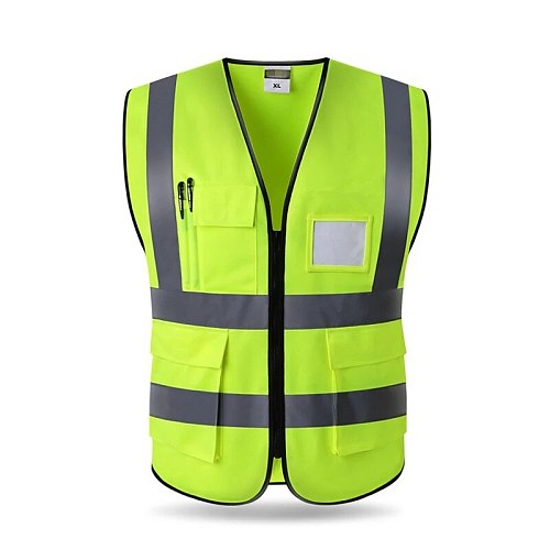Print Logo High Visibility Reflective Vest Working Clothes Motorcycle Cycling Sports Outdoor Reflective Safety Clothing