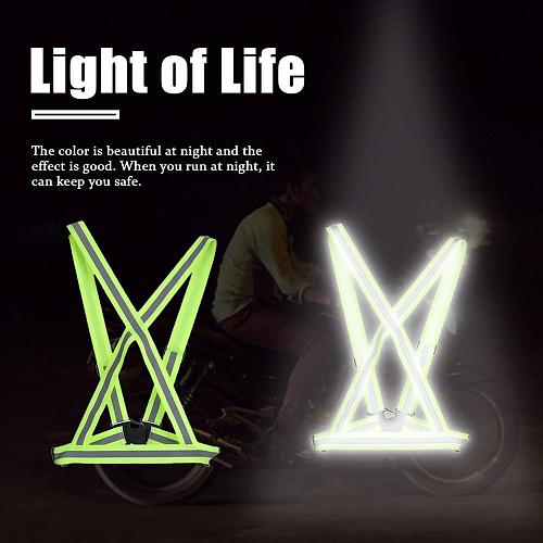 High Elastic Visibility Reflective Safety Jacket Breathable Traffic Night Work Security Running Cycling Safety Reflective Vest