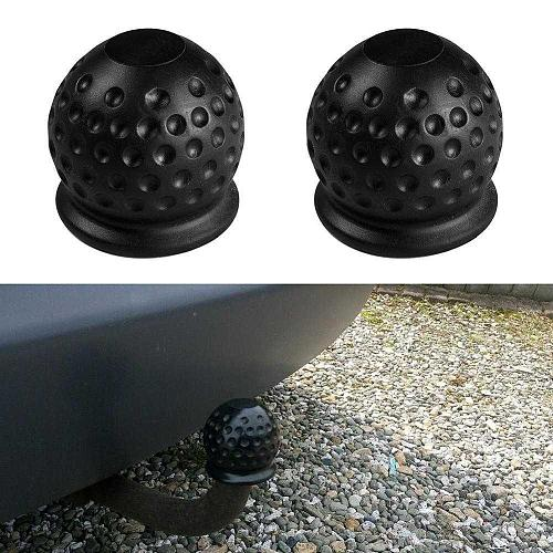 Black 50mm Car Towbar Towball Plastic Cap Tow Ball protection accessories Trailer ball head trailer Towing cover Protective Y7P0