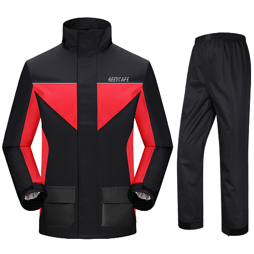 Motorcycle Raincoat Raincoat Rain Pants Fashion Outdoor Raincoat with Pants for Men Breathable Waterproof Rider Rainsuit DD60